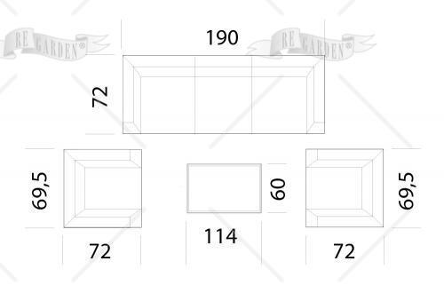 Afrodite - Salotto 3 posti - 2